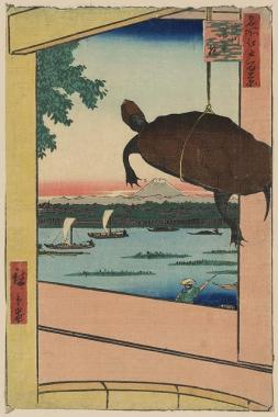 Turtle woodblock print
