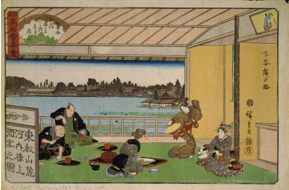 Japanese woodblock print - Geishas