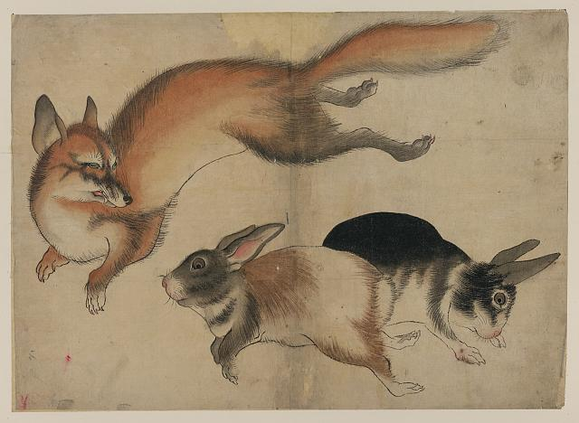 Fox & Two Hares