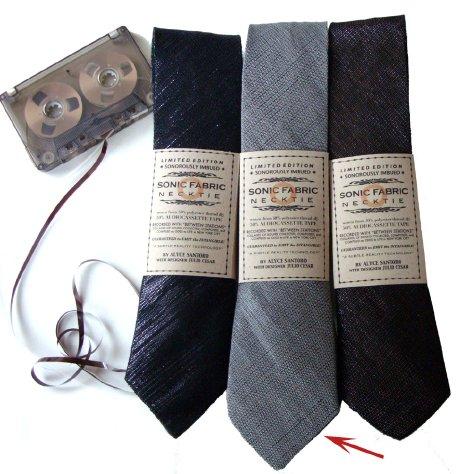 sonic fabric necktie