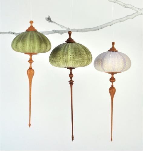 Ashley Harwood urchin ornaments