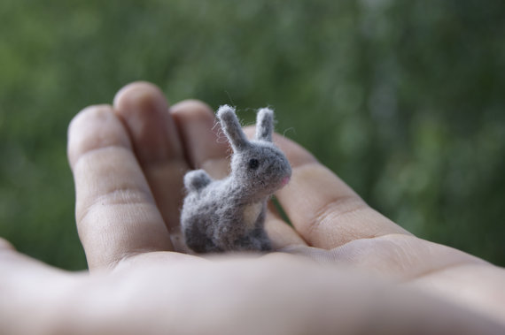 miniature felted squirrel