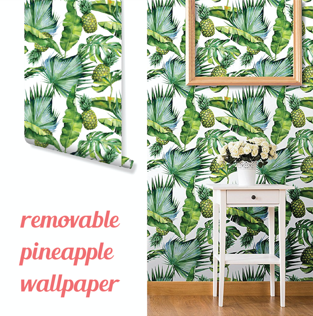 removable pineapple wallpaper