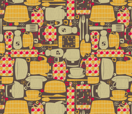 breakfast food fabric