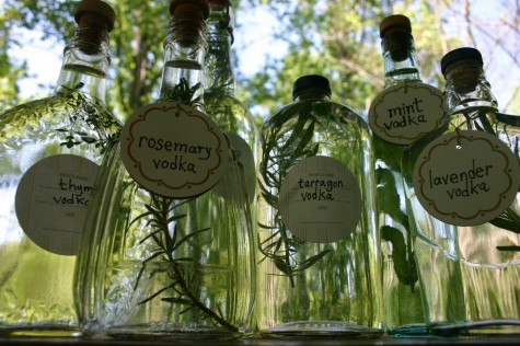 herb-infused vodkas