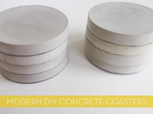DIY concrete coasters by Rebecca Beach