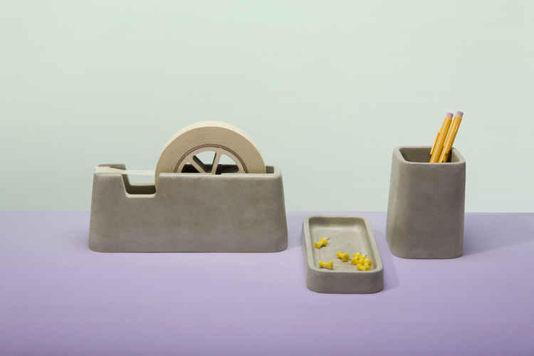 concrete desk set from Magnus Petterson Studio