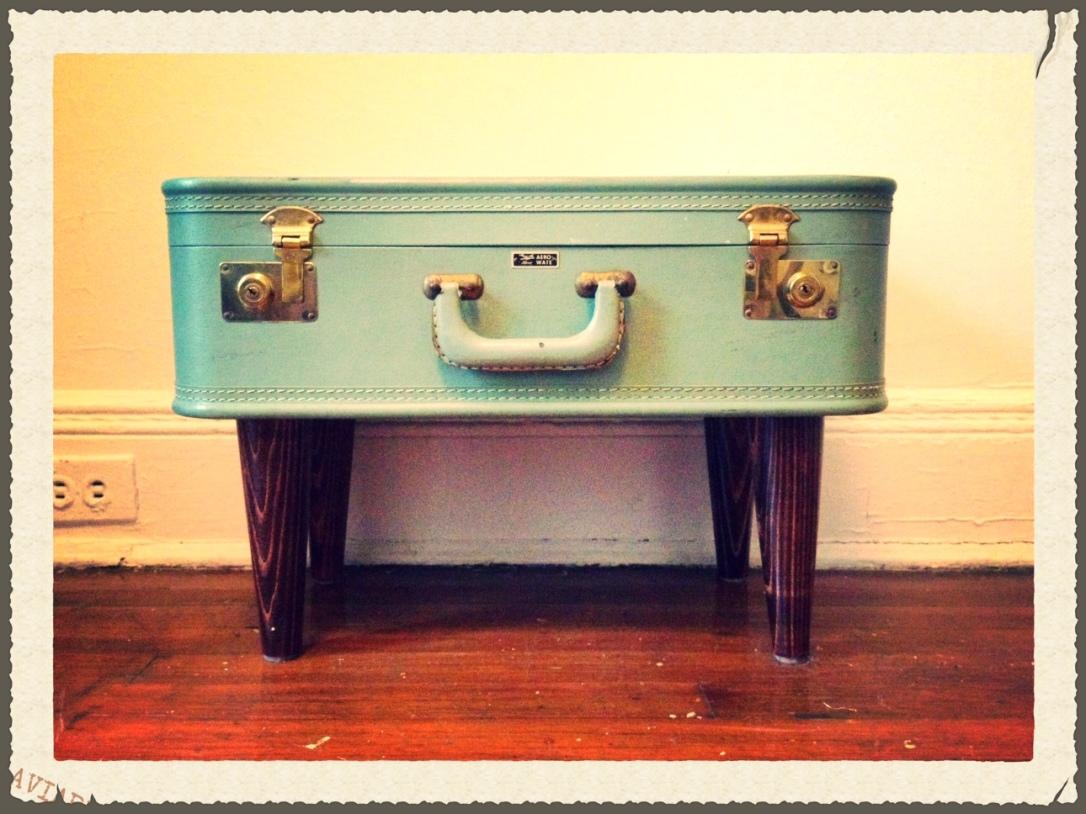 DIY vintage suitcase