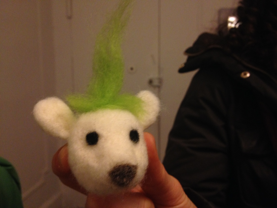 needle felted creature