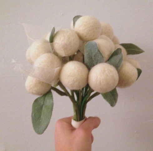 felted bouquet