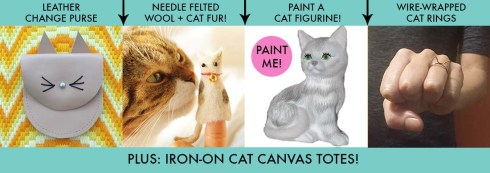 Catlady Craft Night Projects