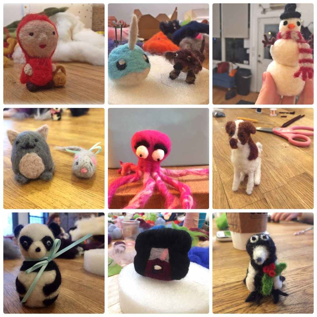 Needle Felting Creations from Brooklyn Brainery