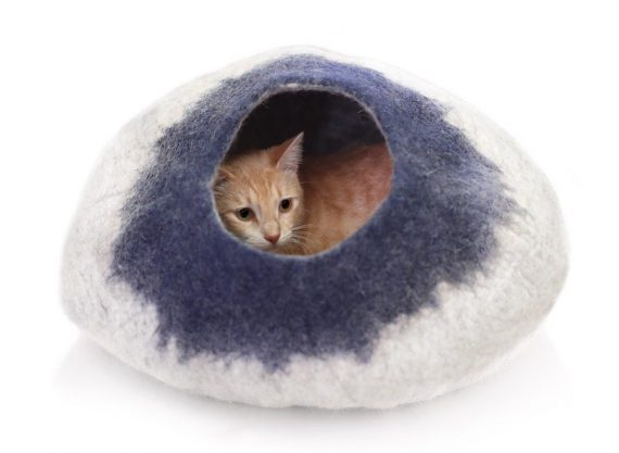 wool cat cave bed