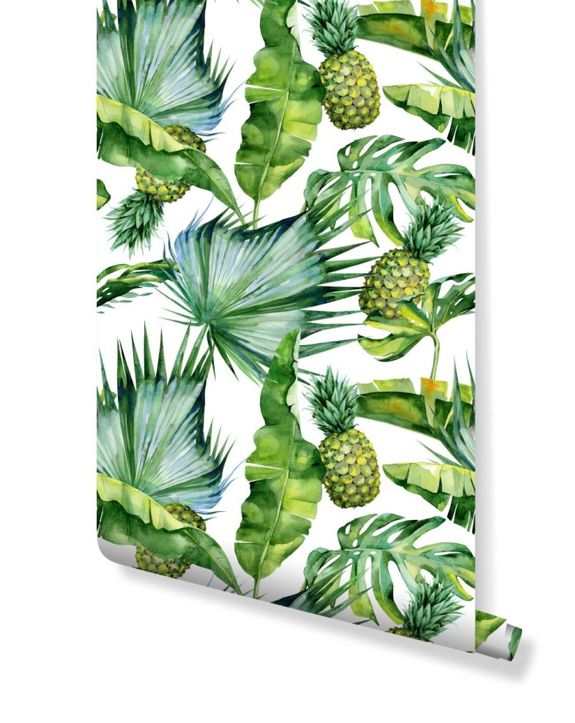 removable pineapple wallpaper from CostaCover
