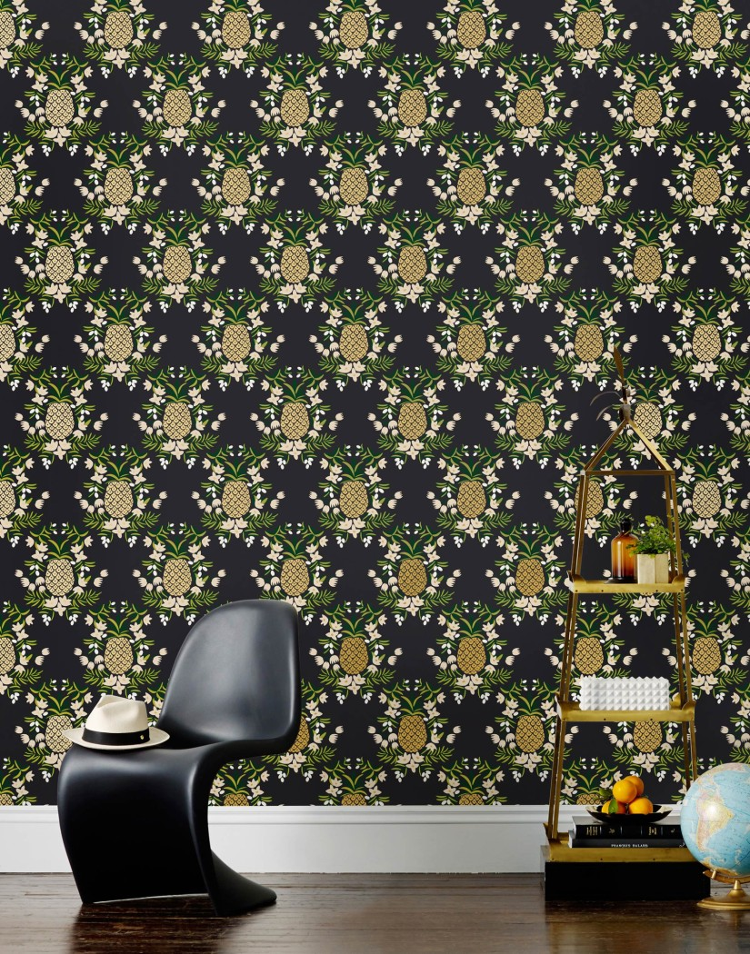 pineapple removable wallpaper from Hygge & West