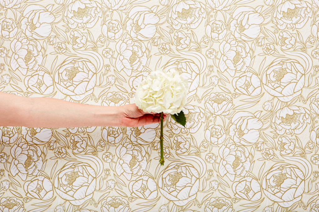 Peonies floral removable wallpaper by Chasing Paper