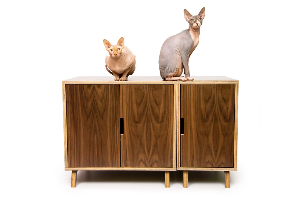 hidden cat litter box from Modernist Cat
